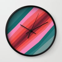 cracked Wall Clocks featuring Cracked  by K I R A   S E I L E R