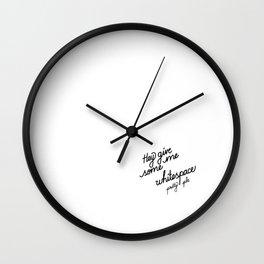 Hey give me some whitespace pretty plz   [black] Wall Clock
