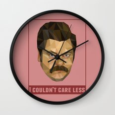 I Couldn't Care Less Wall Clock