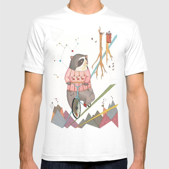 Bear in bicycle T-shirt