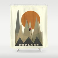 explore Shower Curtains featuring Explore by bri.buckley