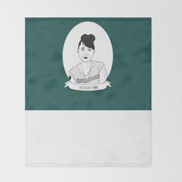 Kathleen Hanna Throw Blanket
