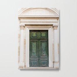 Old Green Door in Venice | Italy Travel Photography | Fine Art photo  Metal Print