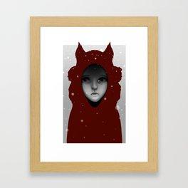 Crimson Hoods Framed Art Print