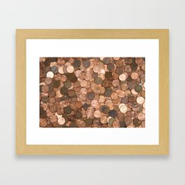 Pennies for your thoughts Framed Art Print
