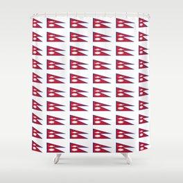 Flag of nepal - Nepali, नेपाल,nepalese,Everest,Kathmandu,Bhojpuri Shower Curtain
