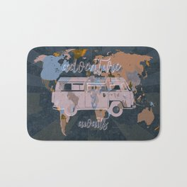 world map-adventure awaits 5 Bath Mat