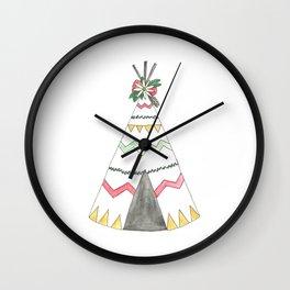 Floral Teepee Wall Clock