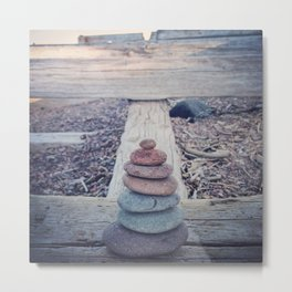 Cairn With an Agate on Top Metal Print