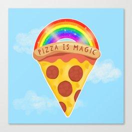 Pizza Is Magic Canvas Print