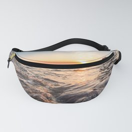 Seascape sunset view on the. Surface of water Fanny Pack