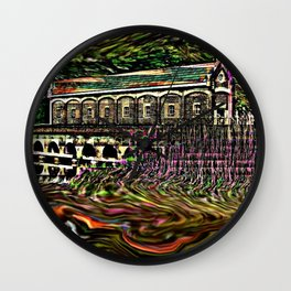 House by the lake Wall Clock