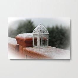 White Lantern Metal Print