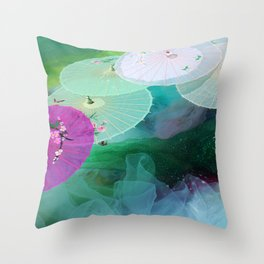 Zen-brella Throw Pillow