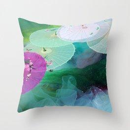 Zen-brella Throw Pillow