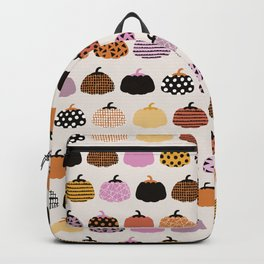 Halloween colorful indian summer pumpkin picking garden pink orange girls Backpack