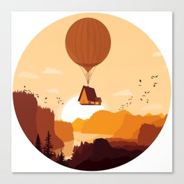 Flying House Canvas Print