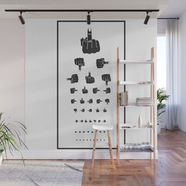 MIDDLE FINGER VISION TEST Wall Mural