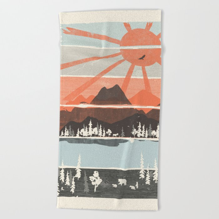 Morning by Bear River... Beach Towel
