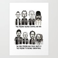 sons of anarchy Art Prints featuring Anarchy by Mermelada de Sesos