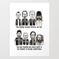 anarchy Art Prints featuring Anarchy by Mermelada de Sesos