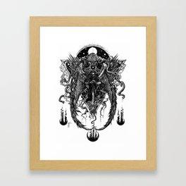 The Bornless One (Black and White)  Framed Art Print