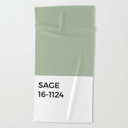 Sage Green Pantone Chip Beach Towel