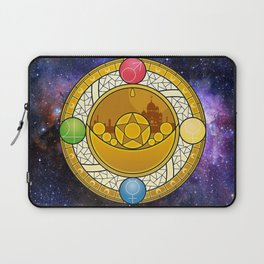 Sailor Moon Crystal stained glass window Transformation Brooch Laptop Sleeve