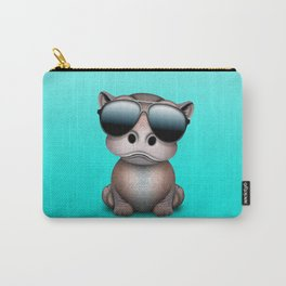 Cute Baby Hippo Wearing Sunglasses Carry-All Pouch