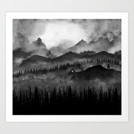 Bears Camp Art Print