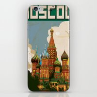 moscow iPhone & iPod Skins featuring Moscow  by Nick's Emporium