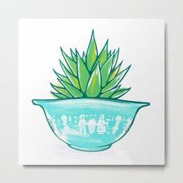 Pyrex and Plants Metal Print