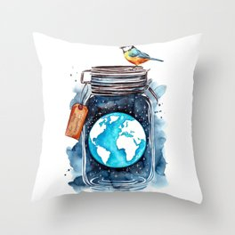 Our Planet Throw Pillow