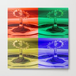 Pop Art Water Drops 1 Metal Print