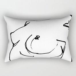 Nude drawing Rectangular Pillow