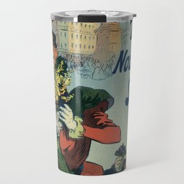 Flowers from Nice in Paris Place Clichy Travel Mug