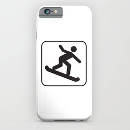 Snowboarding  Down Hill Icon iPhone Case