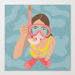 Scuba Girl Canvas Print