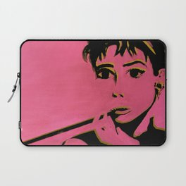 AUDREY POP gold and pink Laptop Sleeve
