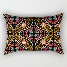 Landscape Australis (black) - An Abstract Design Rectangular Pillow