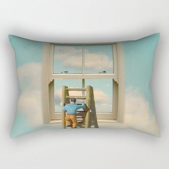 Window cleaner in the sky 02 Rectangular Pillow
