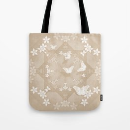 Dreamy butterflies and mandala in iced coffee Tote Bag