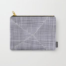 Ink Weaves: White Quartz Carry-All Pouch
