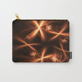 Orange abstract fractal as firework. Holiday theme. Carry-All Pouch