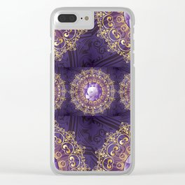 Decorative Background with Round Amethyst Clear iPhone Case