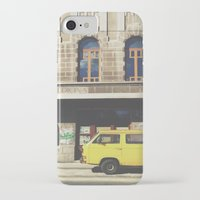 yellow submarine iPhone & iPod Cases featuring Yellow submarine by monicamarcov