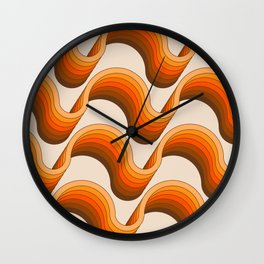 Golden Ribbons Wall Clock