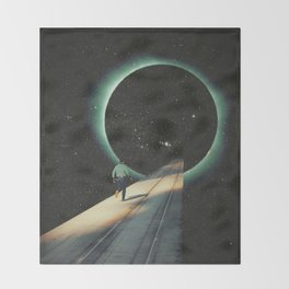 Escaping into the Void Throw Blanket