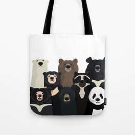 Bear family portrait Tote Bag