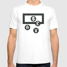 Money White Mens Fitted Tee SMALL